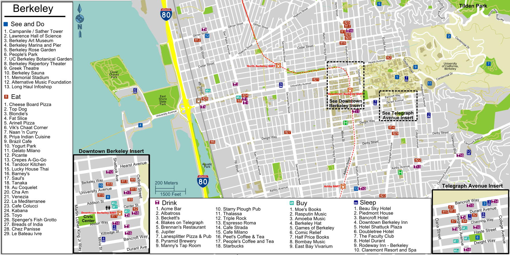 uc berkeley map