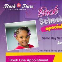 Beauty salon flyer design Flash&Flare
