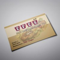 Business card design EFES Grill