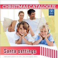 Christmas catalog design Santa Settings