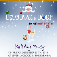 Christmas invitation design