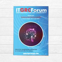 Webinar flyer design IT Forum