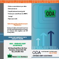 Pamphlet design Ontario Debt Assistance