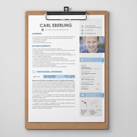 Resume design with career history