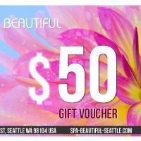 Gift voucher design Spa Beautiful