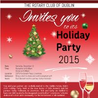 Xmas flyer design Rotary club