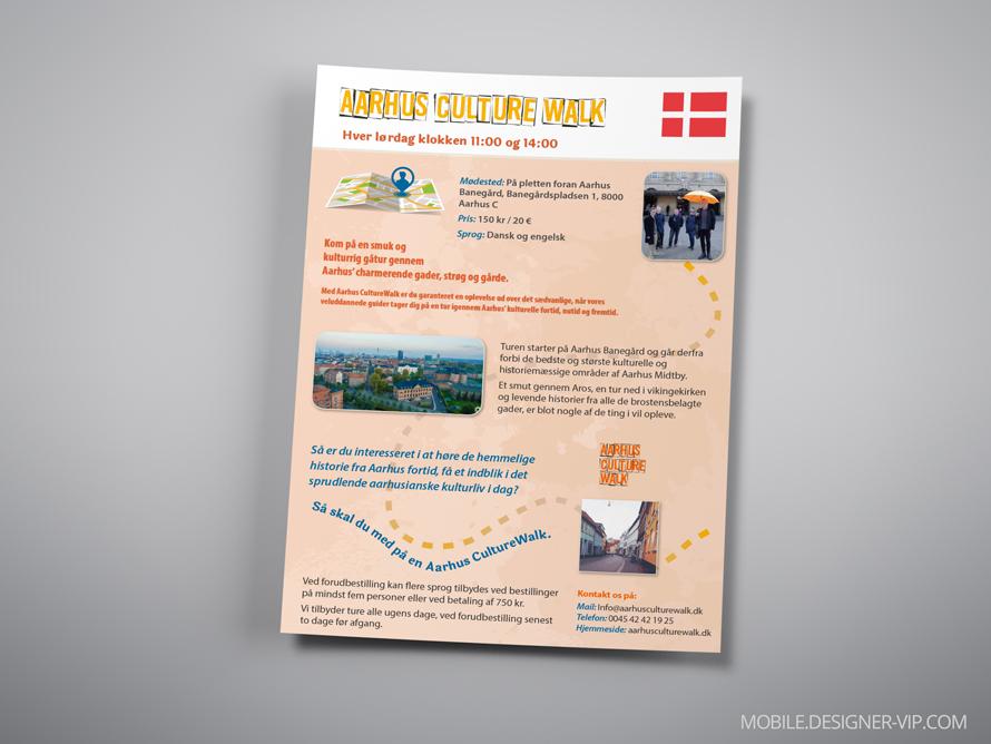 bilingual brochure design ACW danish