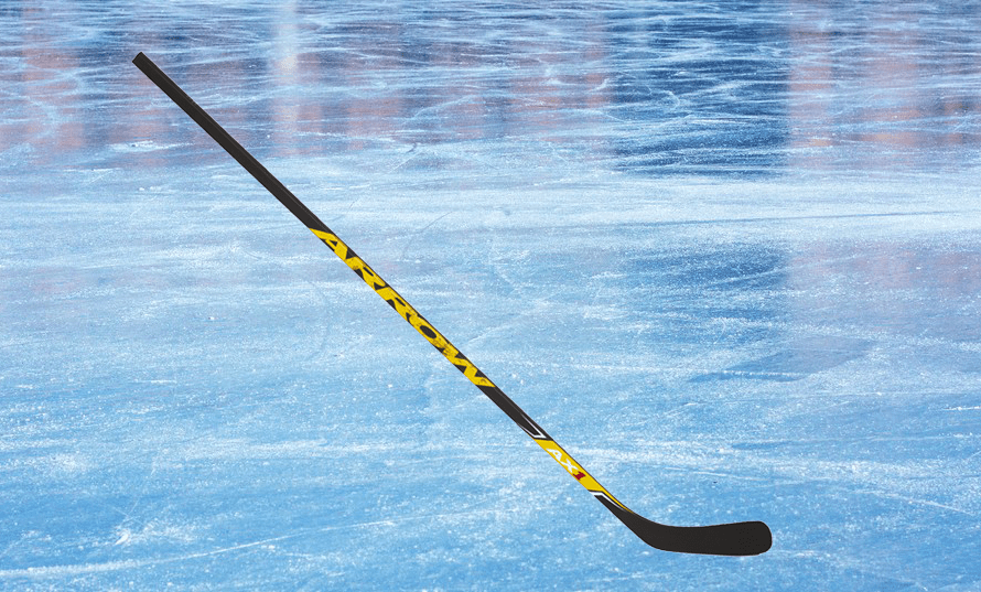 Manufactured hockey stick with carbon pattern Arrow AX1