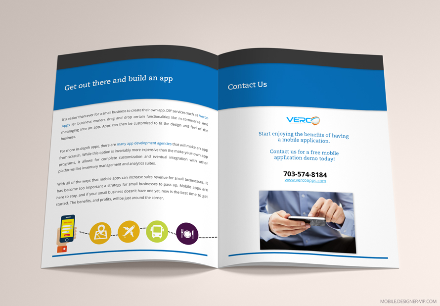 White paper design Verco apps 4 page