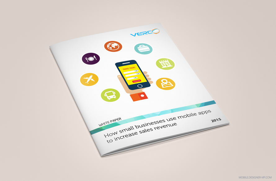 White paper design Verco apps cover page