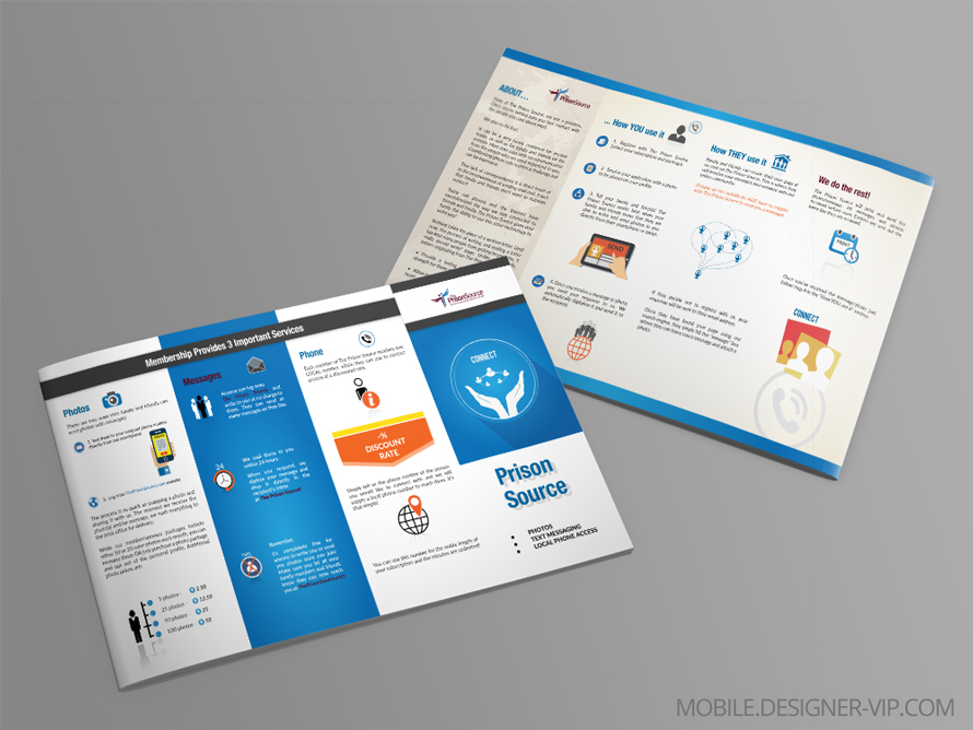 4 panel brochure design Local phone access