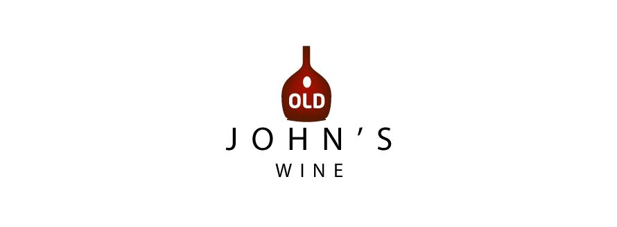 alcohol logo design old johns wine 2 version