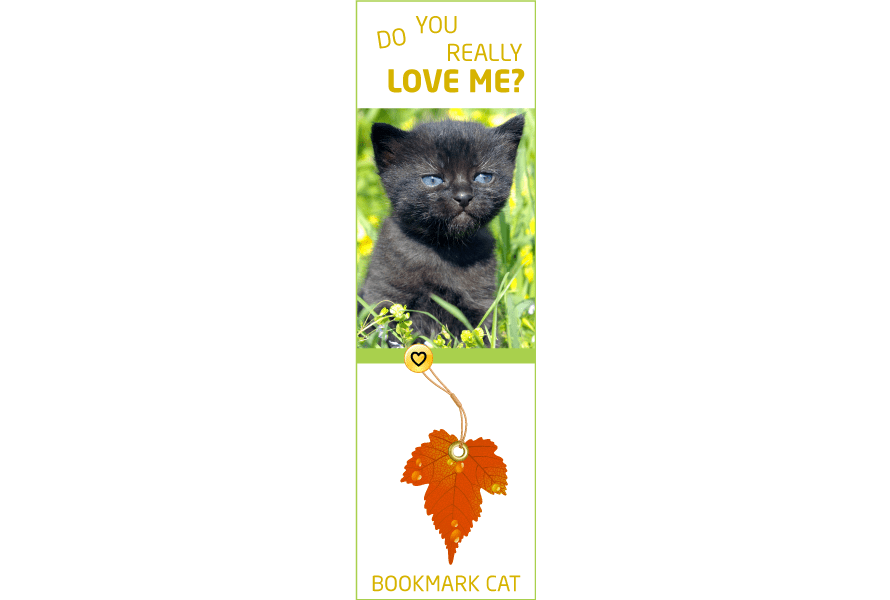 Bookmark design fun cat vibes