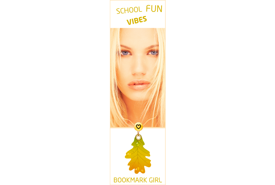 Bookmark design fun girl vibes