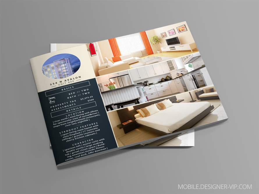 Catalog design and layout Avalon Luxury Properties