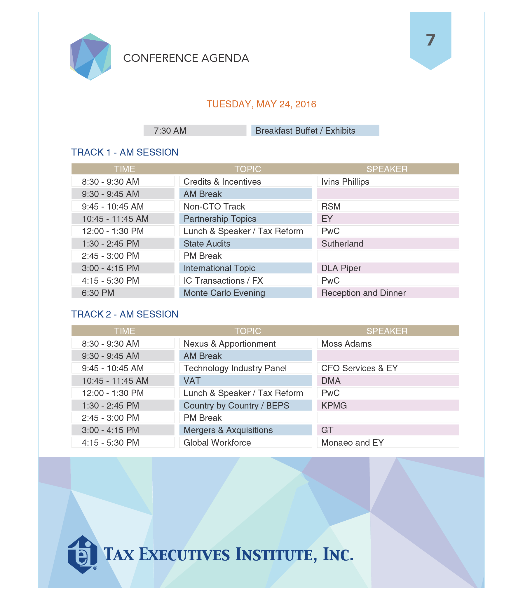 Conference brochure TEI 7 page