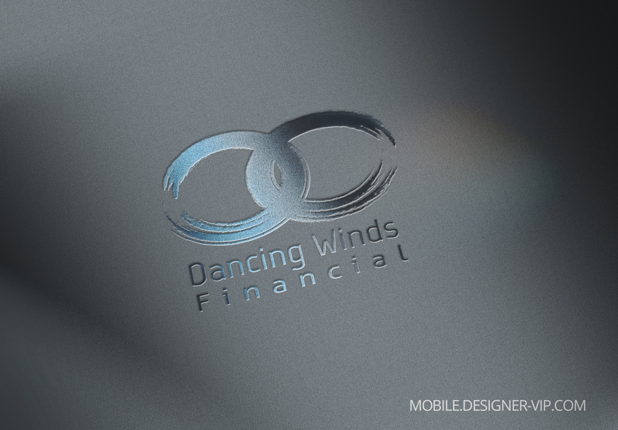 Financial services logo design Dancing Winds version 1