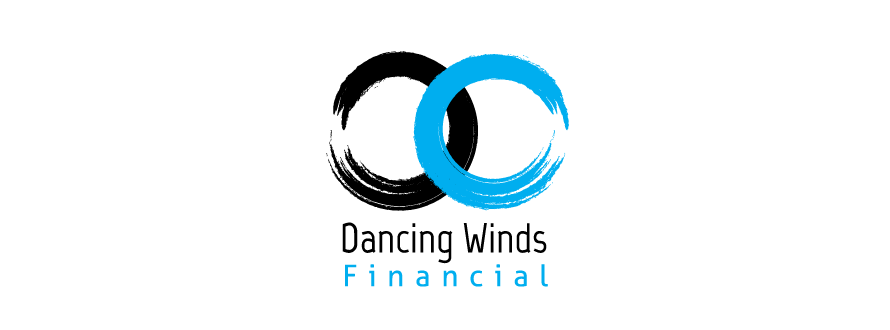 Mock up Financial services logo design Dancing Winds