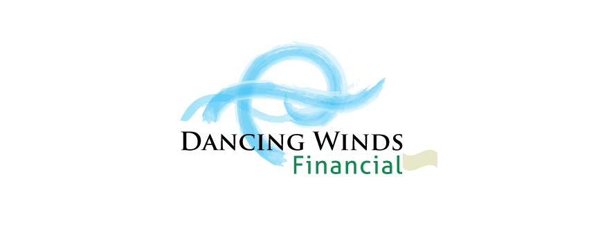Financial services logo design Dancing Winds version 2