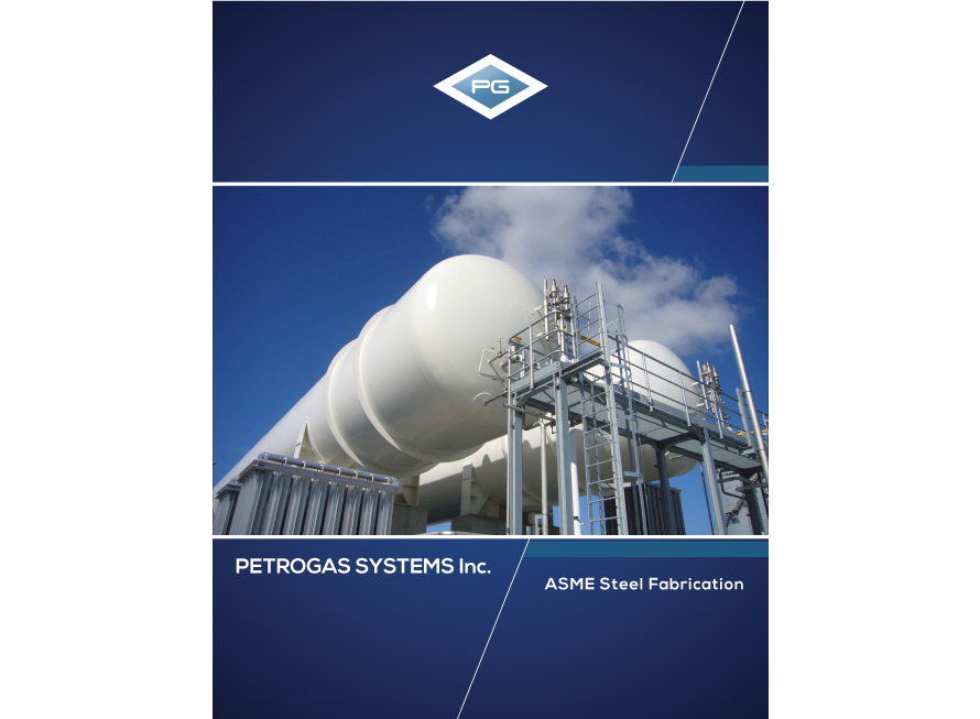 Industrial brochure design Petrogas Systems second cover page
