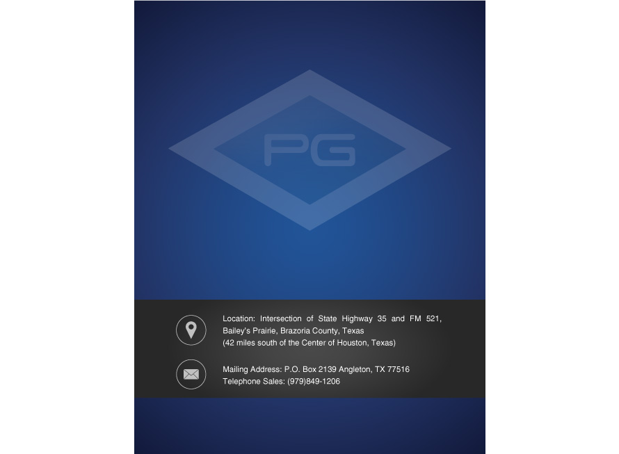 Industrial brochure design Petrogas Systems inner cover page