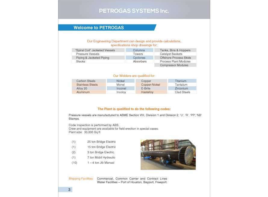 Industrial brochure design Petrogas Systems 3 page