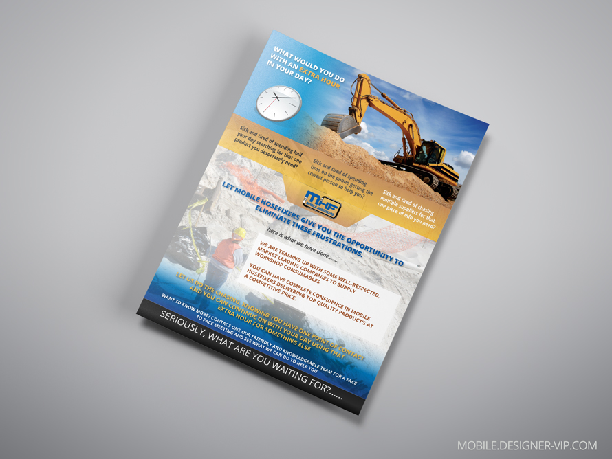 Industrial flyer design MHF