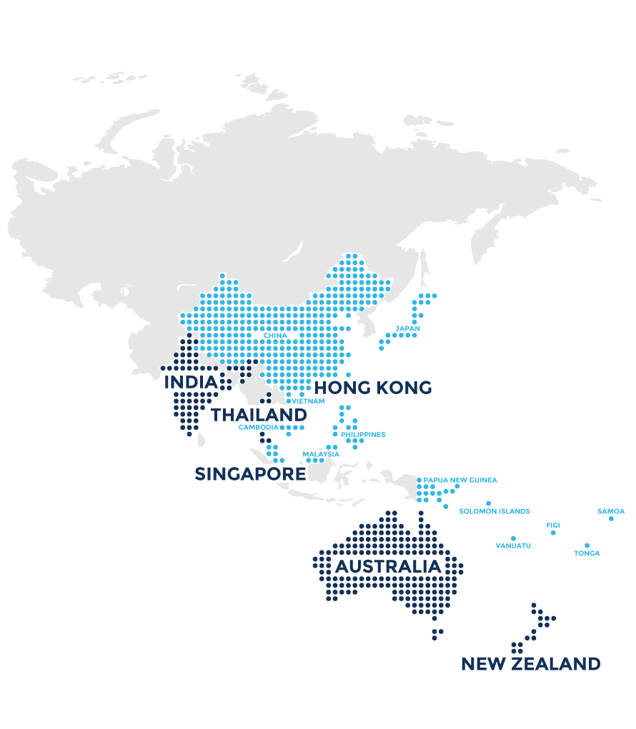 world map vector australasia