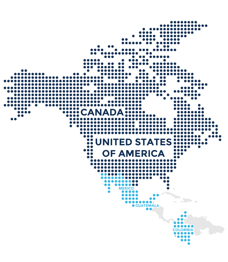 North America Map With Usa Canada And Mexico Stock Photo - Map of usa and canada images