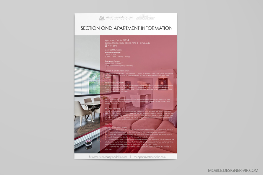 apartment brochure design. Apartment Brochure Design Medellin Face Page E