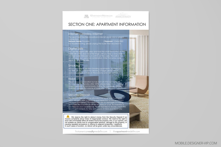 Apartment brochure design Medellin inner page