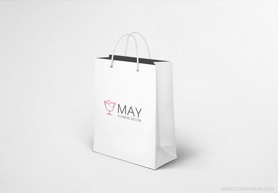 Bag with flower logo design