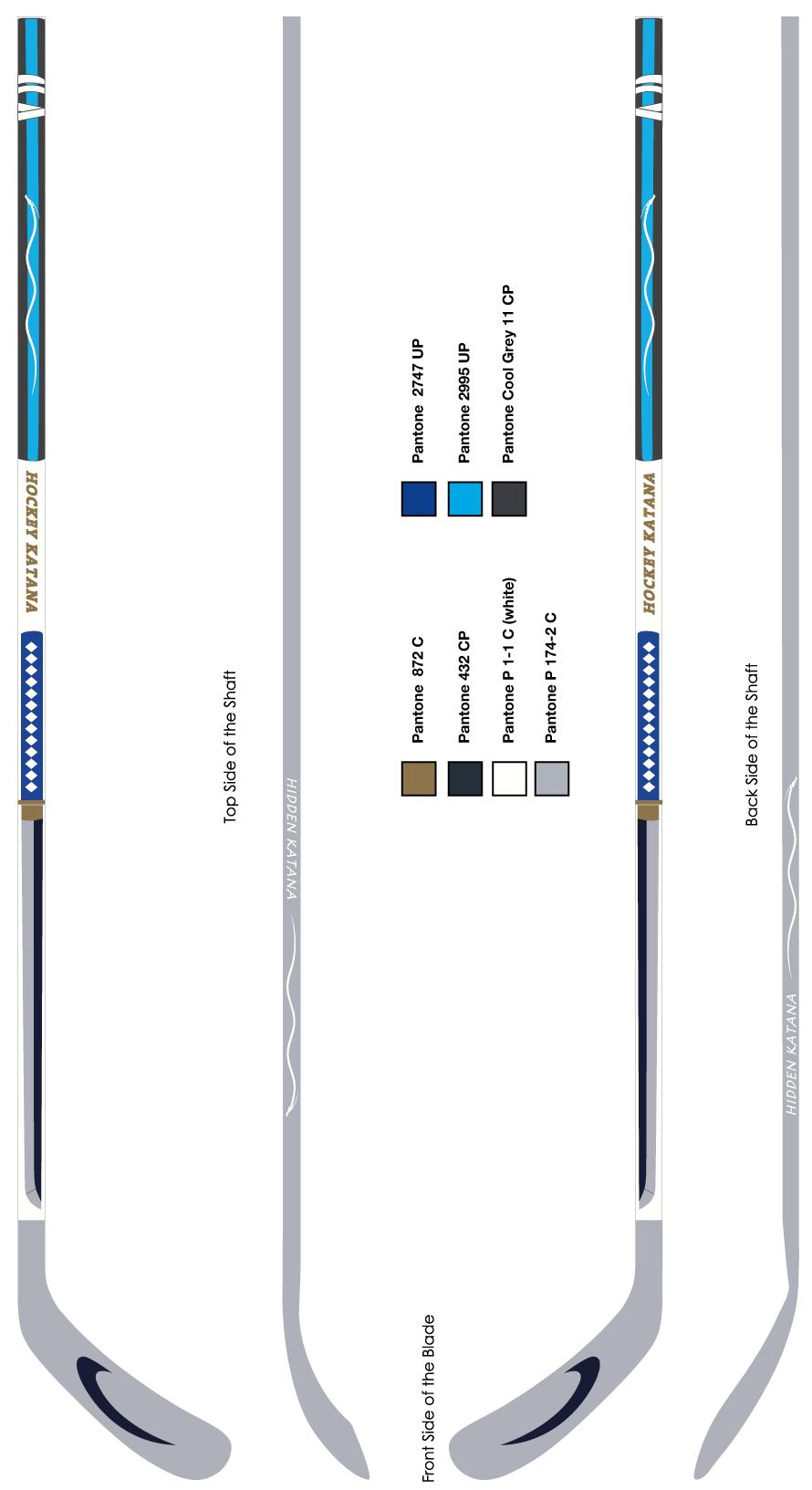 Original hockey sticks Hockey Katana vertical view