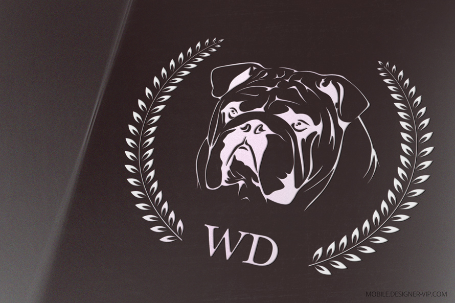 Dog logo design WD