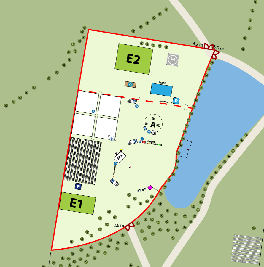 Festival map design site area view