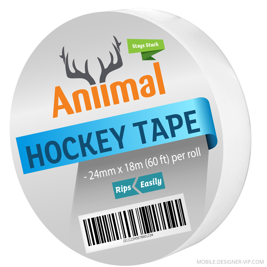 Hockey tape label