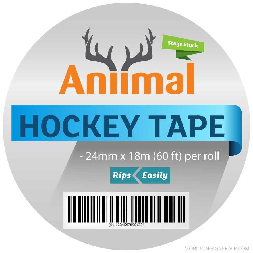 Hockey tape label design