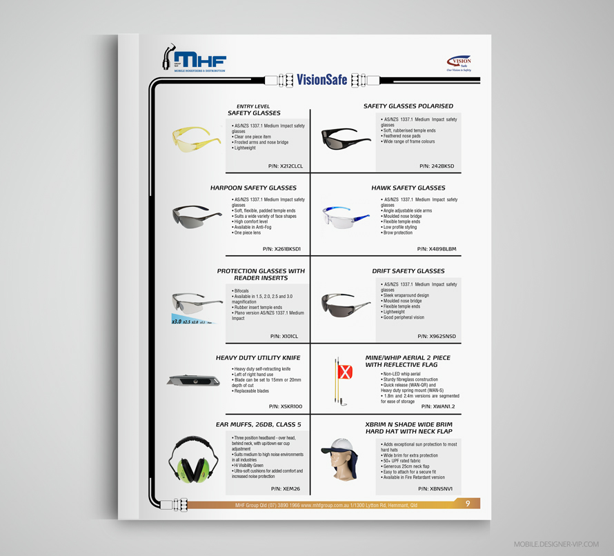 Vision Safe items catalog MHF page 9