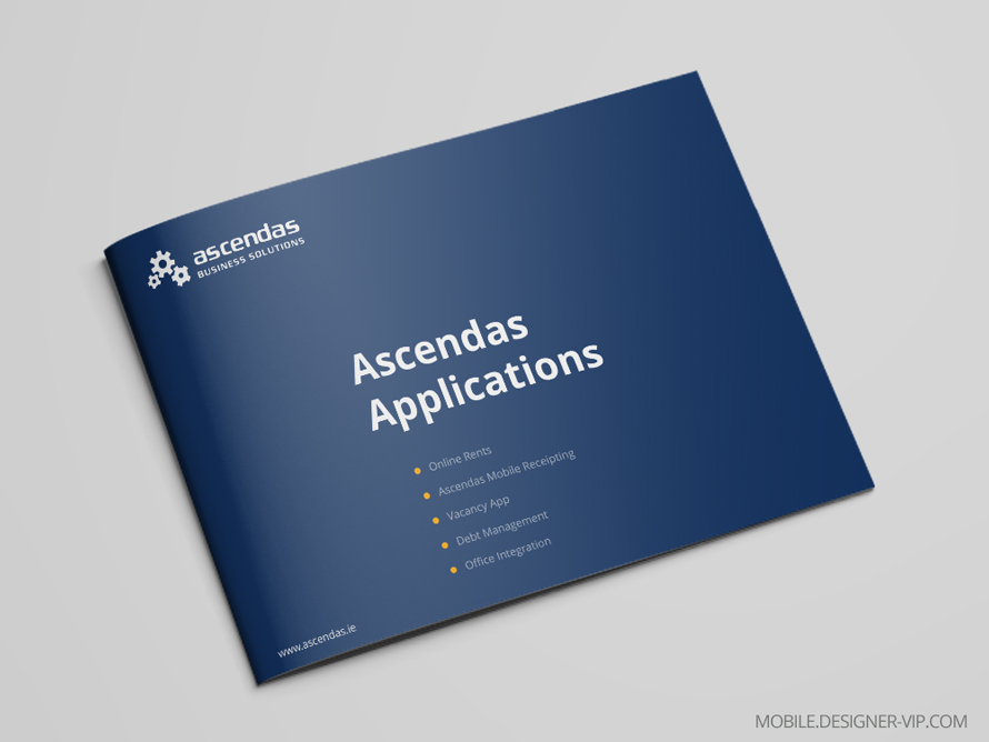 Mobile app brochure design Ascendas cover