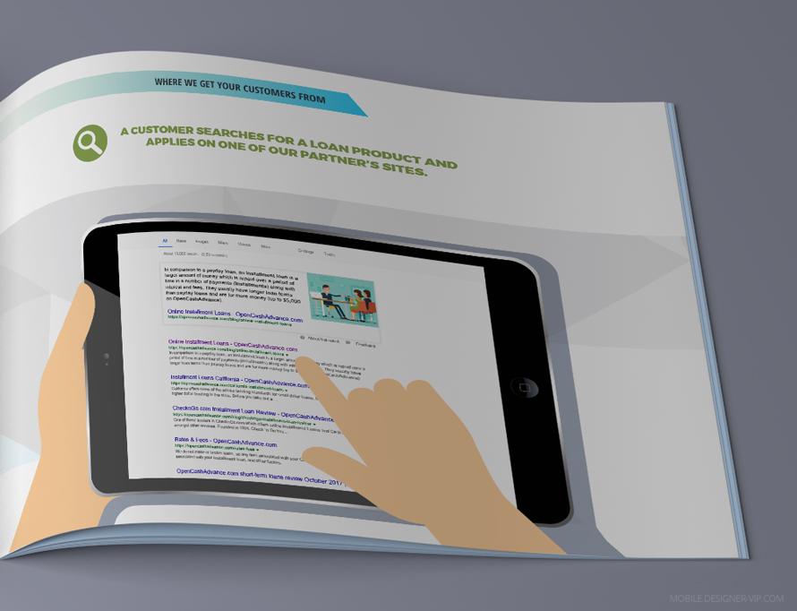 3 page for presentation design