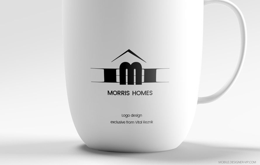 Real estate logo design Morris Homes