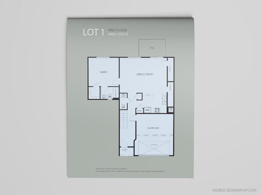 1st Floor plan design lot 1