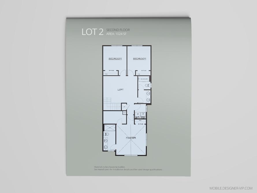 2nd Floor plan design lot 2