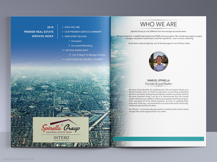 Realtor brochure design