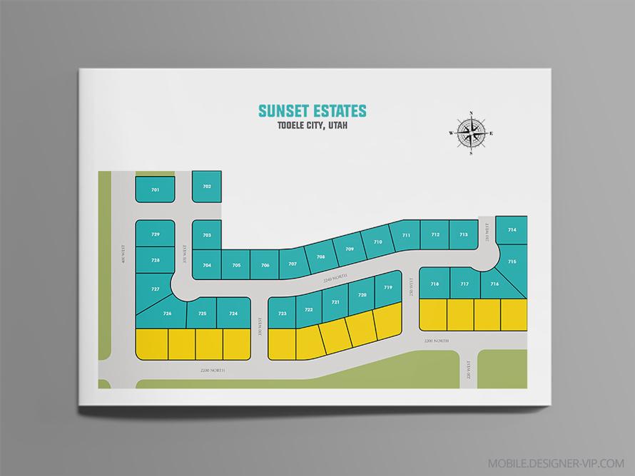 real estate plat map Sunset